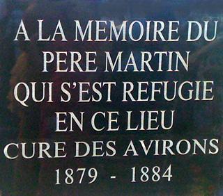 Père Auguste Martin plaque commémorative
