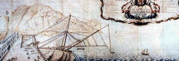 Pont volant de La Bourdonnais Saint-Denis