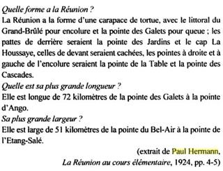 1924, La Réunion au cours élémentaire de Paul Hermann