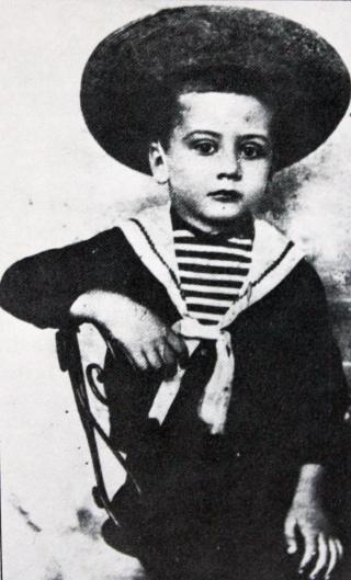 Roland Garros, enfant.