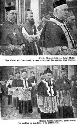 Sacre de Mgr Cléret de Langavant à Saint-Malo