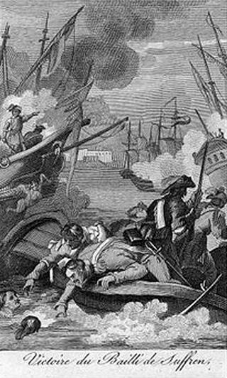 Combat naval devant Sadras