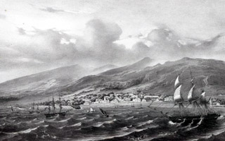 Vue sur Saint-Denis dans les années 1800
