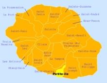 Carte de la commune de Petite-île La Réunion.
