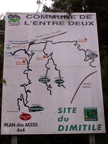 Dimitile à l'Entre-Deux La Réunion Signalisation