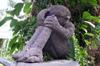 Sculpture en basalte Îlet Furcy La Réunion.