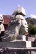 Lettre A Sculpture rond point des Sources à Cilaos