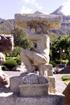 Lettre I Sculpture rond point des Sources à Cilaos
