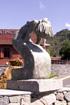 Lettre S Sculpture rond point des Sources à Cilaos