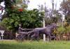 Statue rond point Mon Caprice Saint-Pierre La Réunion