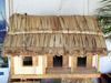 Artisanat île de La Réunion case créole en vacoas