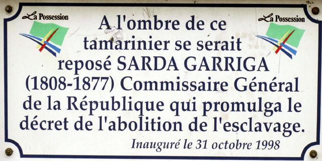 Plaque Sarda Garriga La Possession