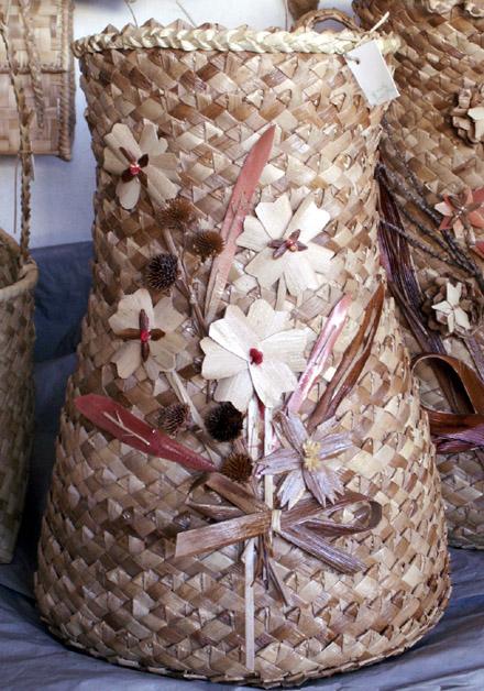 Artisanat île de La Réunion objets en vacoas
