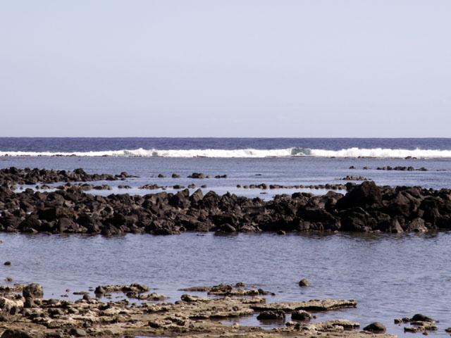 Vestiges du parc à huîtres Étang-salé les Bains île de La Réunion
