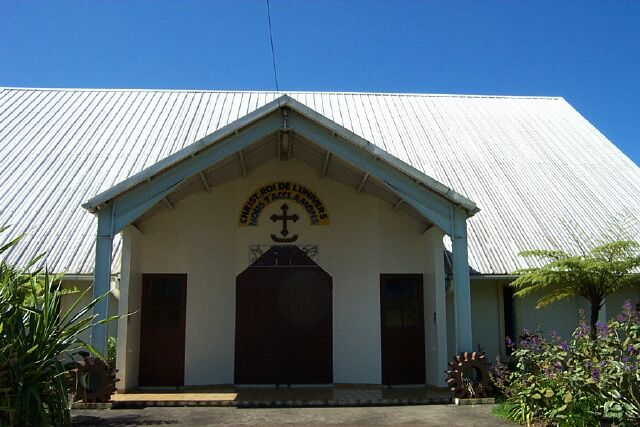 Église du Christ-Roi à Bagatelle Sainte-Suzanne La Réunion.