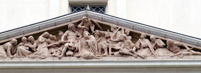 Fronton de la Cathédrale Saint-Sauveur Saint-Denis