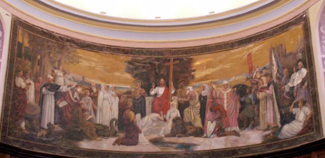 Peinture centrale Cathédrale de Saint-Denis