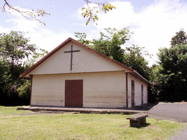 église du village de l' Abondance commune de Saint-Benoit île de La Réunion
