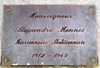 Plaque : Buste Alexandre Monnet parvis cathédrale de Saint-Denis