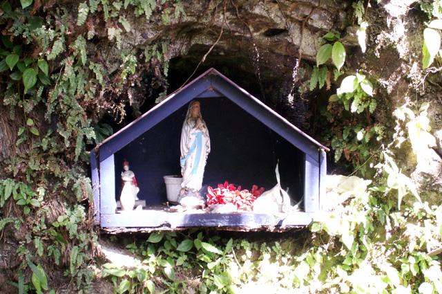 Oratoire sentier du Bassin Boeuf Sainte-Suzanne La Réunion