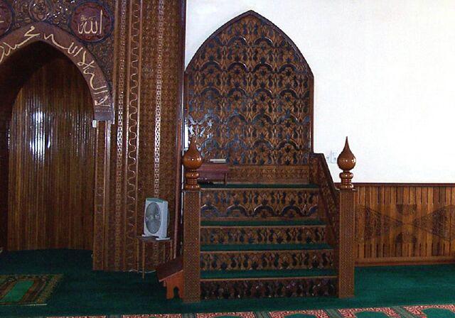 Mimbar de la Mosquée Atyaboul Massadjid à Saint-Pierre