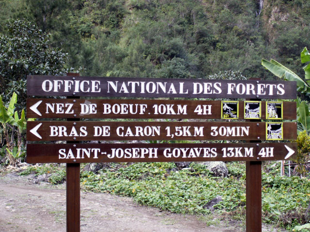 Panneau Village de Roche Plate Saint-Joseph île de La Réunion