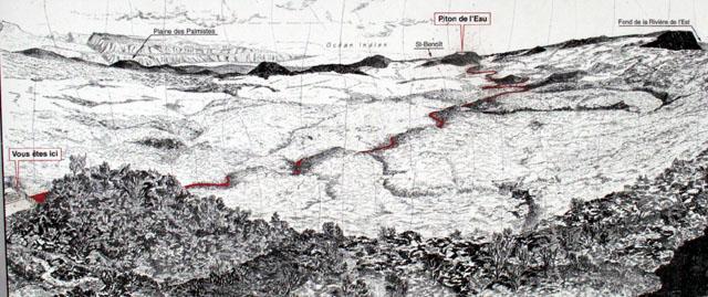 Carte sentier Piton de l'Eau
