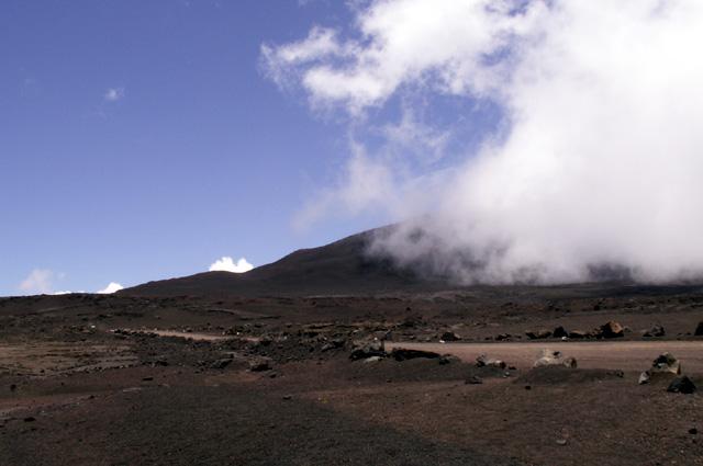 Plaine des Sables sur la route du volcan le Piton de La Fournaise