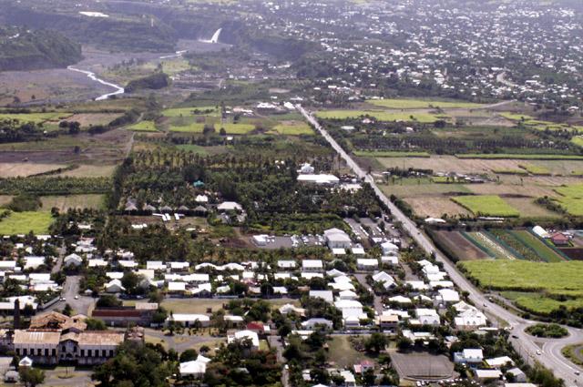 Vue aérienne sur Pierrefonds La Réunion
