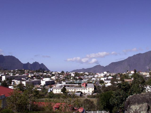 Vue sur la ville de Cilaos