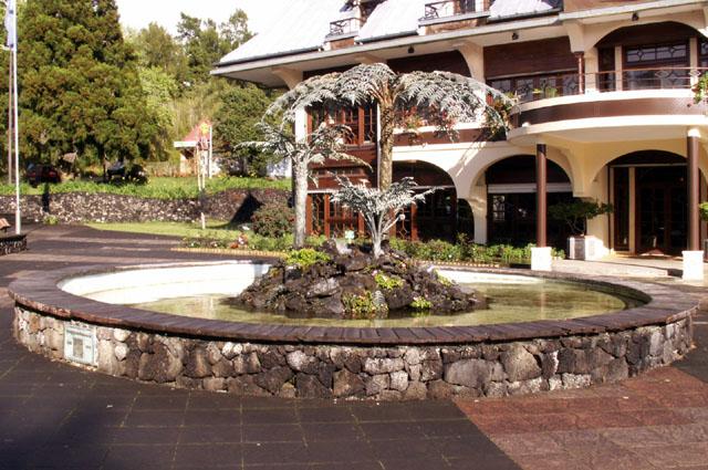Fontaine place de la Mairie Plaine des Palmistes
