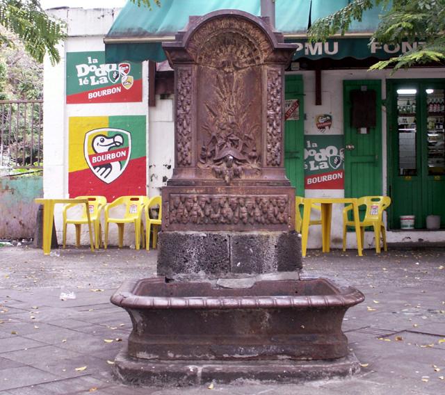 Fontaine tortue quartier La Rivière à Saint-Denis La Réunion