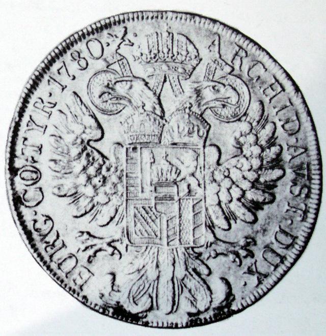 Pile d'une pièce de 20 Kreutzers de 1780