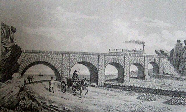 Chemin de fer Pont des Colimaçons Saint-Leu. Album de La Réunion. Antoine Roussin.