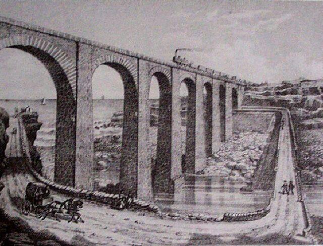 Chemin de fer La Grande Ravine. Album de La Réunion. Antoine Roussin.