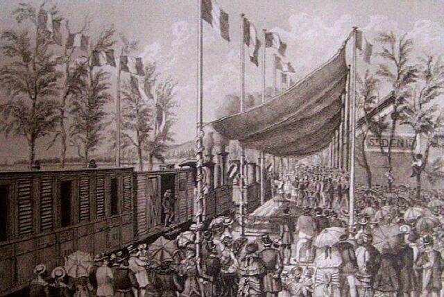 Inauguration du chemin de fer 11/02/1882 Album de La Réunion. Antoine Roussin.