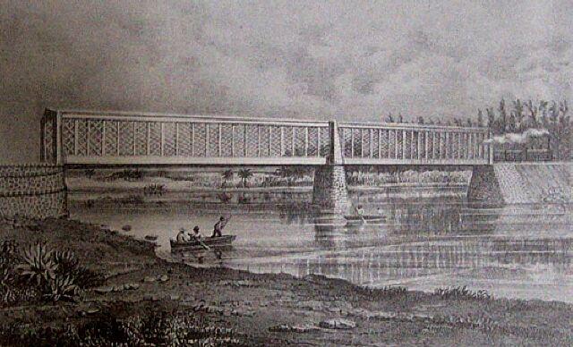 Chemin de fer Pont de l'Etang de Saint-Paul. Album de La Réunion. Antoine Roussin.