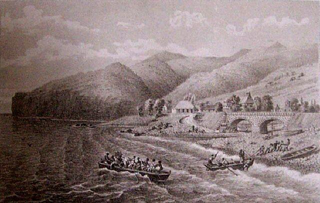 Chemin de fer Pont Ravine des Lataniers la Possession. Album de La Réunion. Antoine Roussin.