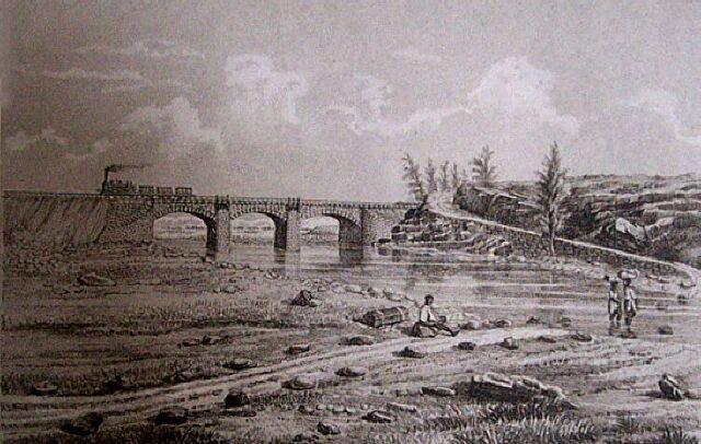 Chemin de fer Ravine des trois Bassins. Album de La Réunion. Antoine Roussin.