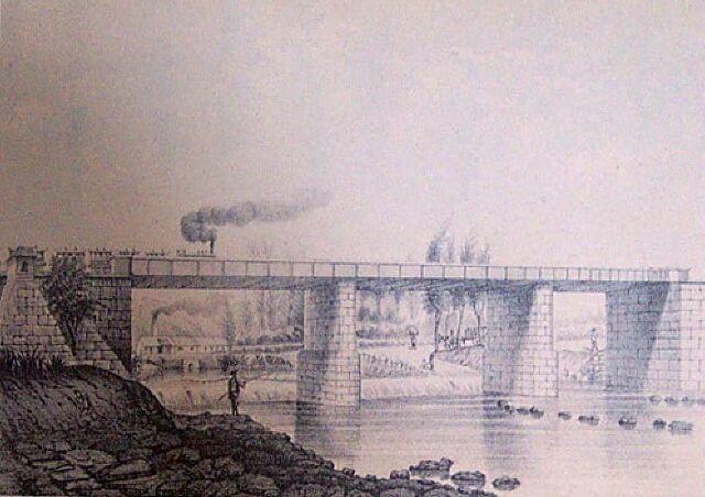 Chemin de fer Pont Rivières des Roches