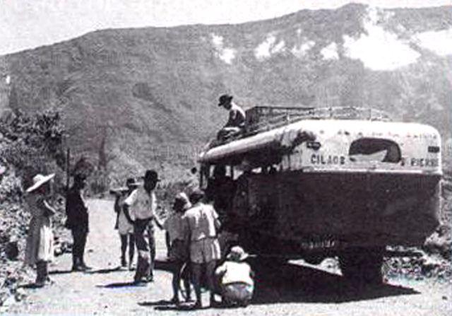 Car Courant d'air sur la Route de Cilaos