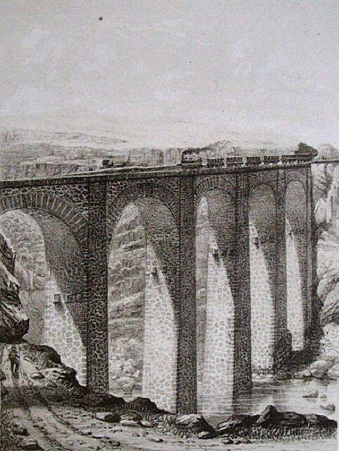 Chemin de Fer pont la Petite Ravine Saint-Leu. Album de La Réunion. Antoine Roussin.