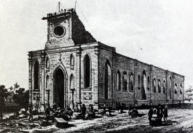 Construction de l'église de Saint-Louis