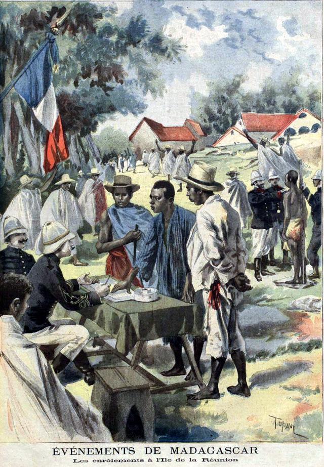 Les enrôlements à La Réunion en 1895