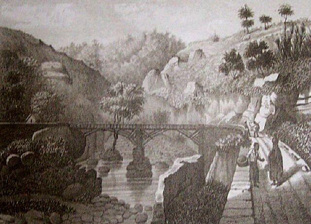 Manapany, pont. Album de La Réunion. Antoine Roussin.