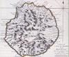 Carte de l'île Bourbon au XVIIIe siècle