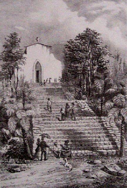 Quartier Français église. Album de La Réunion. Antoine Roussin.