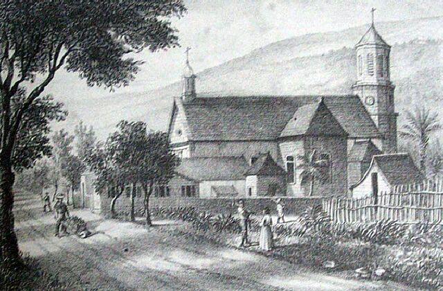 Saint-Leu, église. Album de La Réunion. Antoine Roussin.