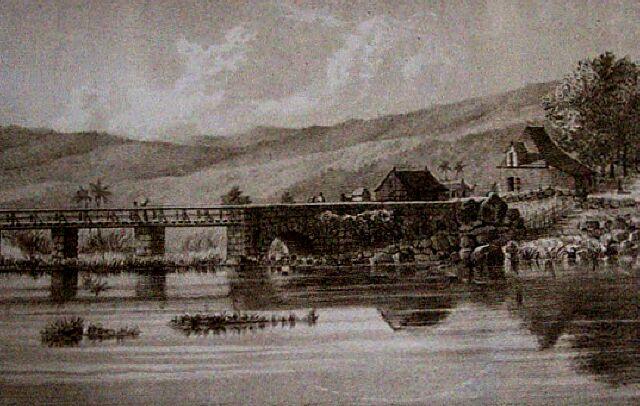 Saint-Paul pont. Album de La Réunion. Antoine Roussin.