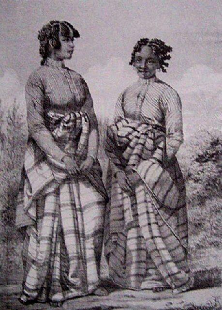 Population de La Réunion : Types Malgaches. Album de La Réunion. Antoine Roussin.